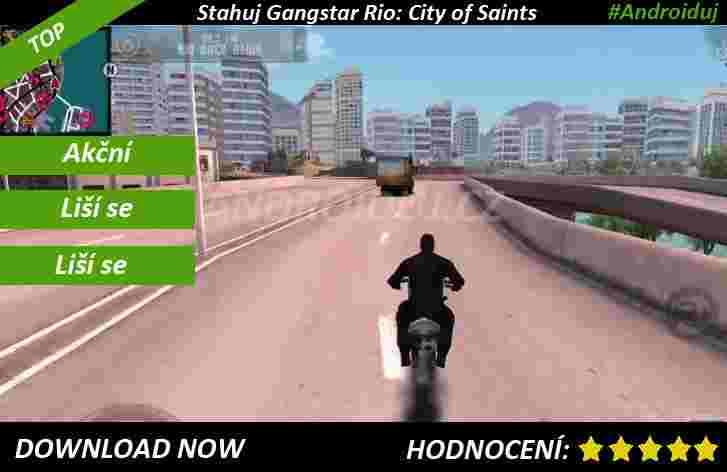 Akční android hra Gangstar Rio: City of Saints