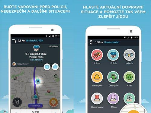Waze aplikace na android