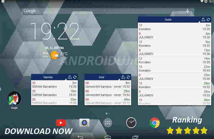Aplikace android   Stahuj aplikaci MHD Tabule [1.1 Mb]