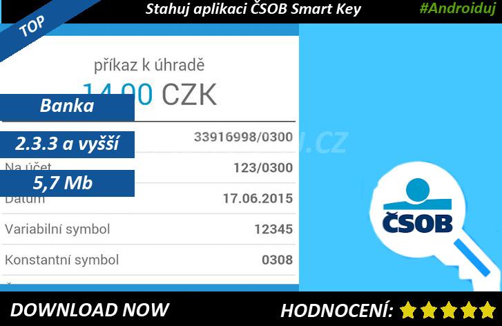 3- ČSOB Smart Key ke stažení - recenze