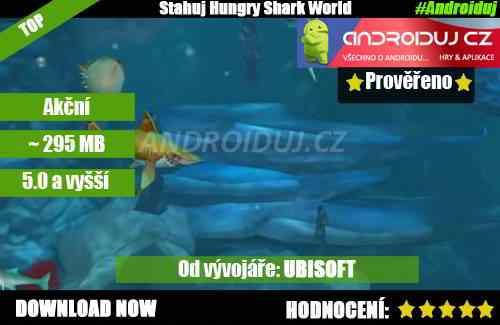 1- Hungry shark world ke stažení hra