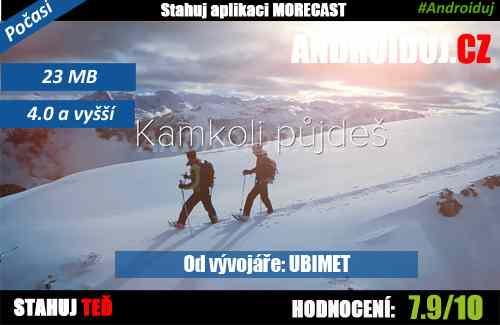 Aplikace ke stažení - Morecast - předpověď počasí