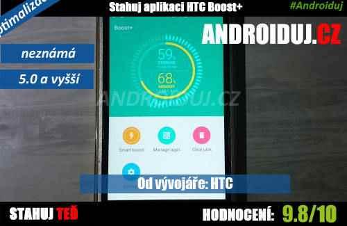 Aplikace HTC Boost+