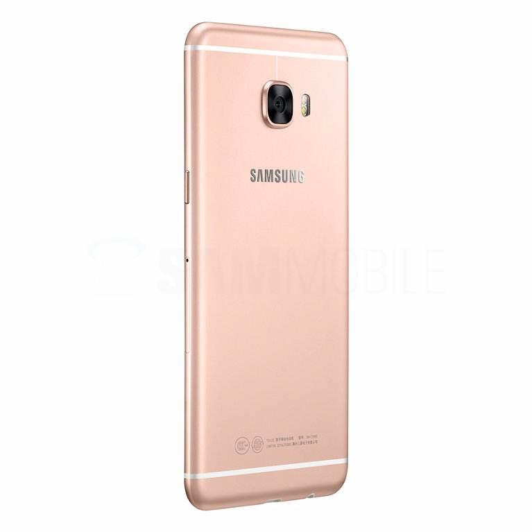 Galaxy C5 v růžovo/zlaté barvě
