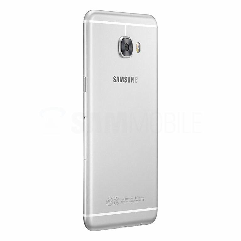 Galaxy C5 ve stříbrné barvě
