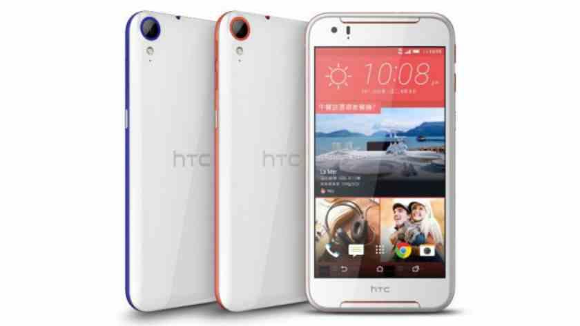 HTC Desire 830 bde dostupný v modré a oranžovo - červené barvě