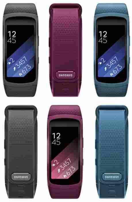 Samsung Gear Fit 2 barevné varianty