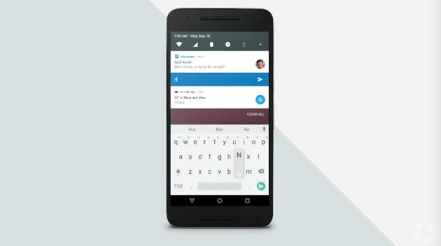 Android N přímé odpovědi