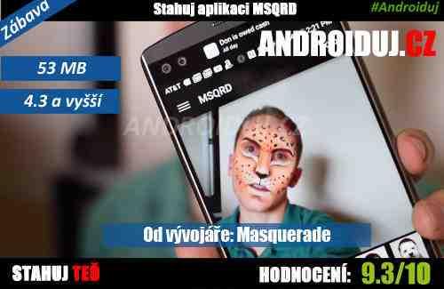 Android aplikace MSQRD ke stažení