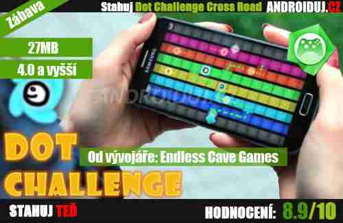 Android hra Dot Challenge Cross Road