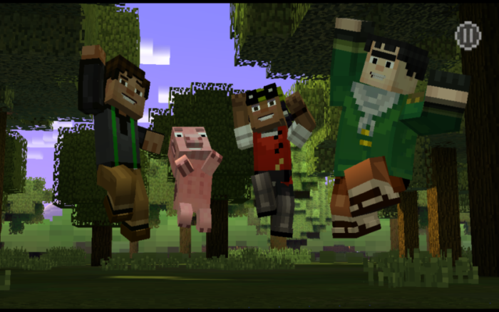 Minecraft Story Mode, android hra