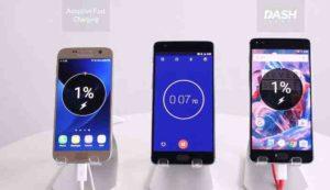 OnePlus 3 vs. Samsung Galaxy S7, adaptivní nabíjení, dash charge