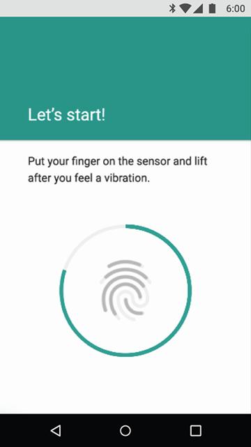 Snímač otisků prstů, chránění aplikací