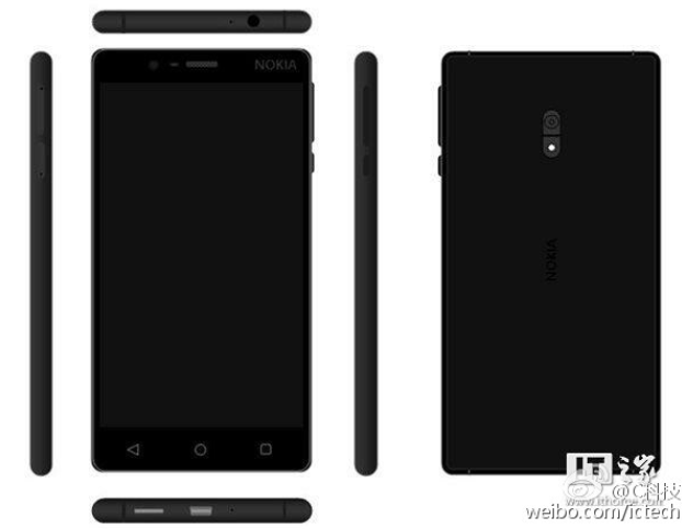 Nokia D1C na renderech, snapdragon 430, Android 7