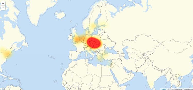 Výpadek Google ve střední Evropě