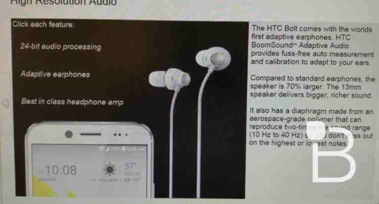 HTC bolt bude vodě odolný a zcela novou kamerou