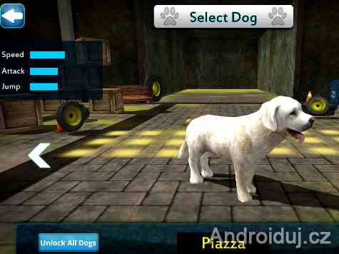 Dog Simulator 3D android hra zdarma