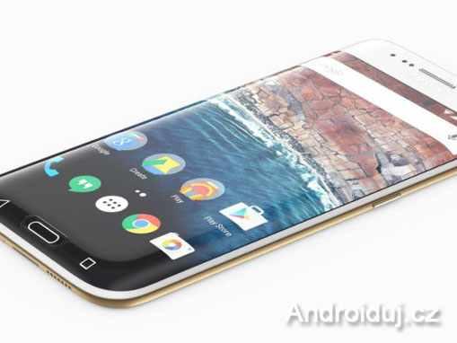 Samsung Galaxy S8 mobilní telefon se zahnutým displejem
