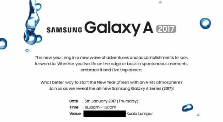 Oficiální představení Samsung Galaxy A 2017 je naplánováno na 5. Ledna