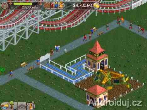 Android hra RollerCoaster Tycoon Classic