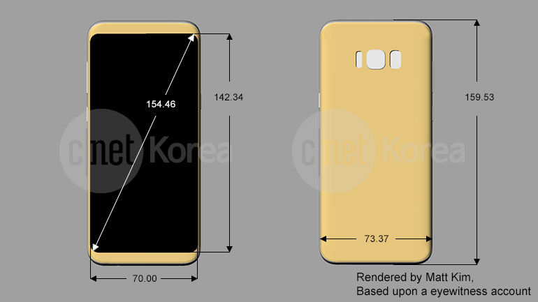 Samsung Galaxy S8 Plus rozměry