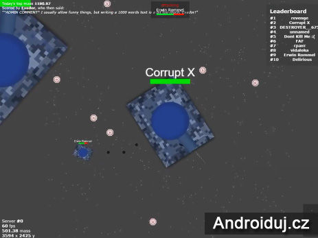 HTML5 hra Tankar.io