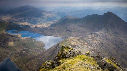 Pohled z vršku hory Snowdon