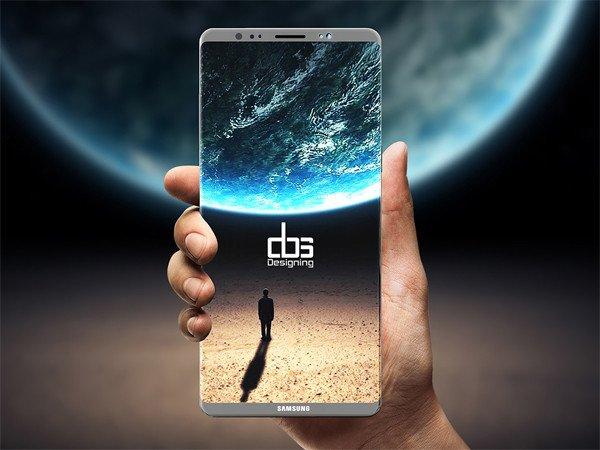Samsung Galaxy Note 8 rendery
