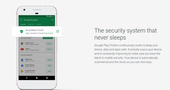 Google store zabezpečení