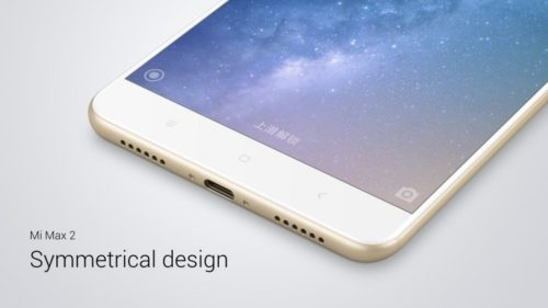 Xiaomi Mi Max 2 - symetrický design