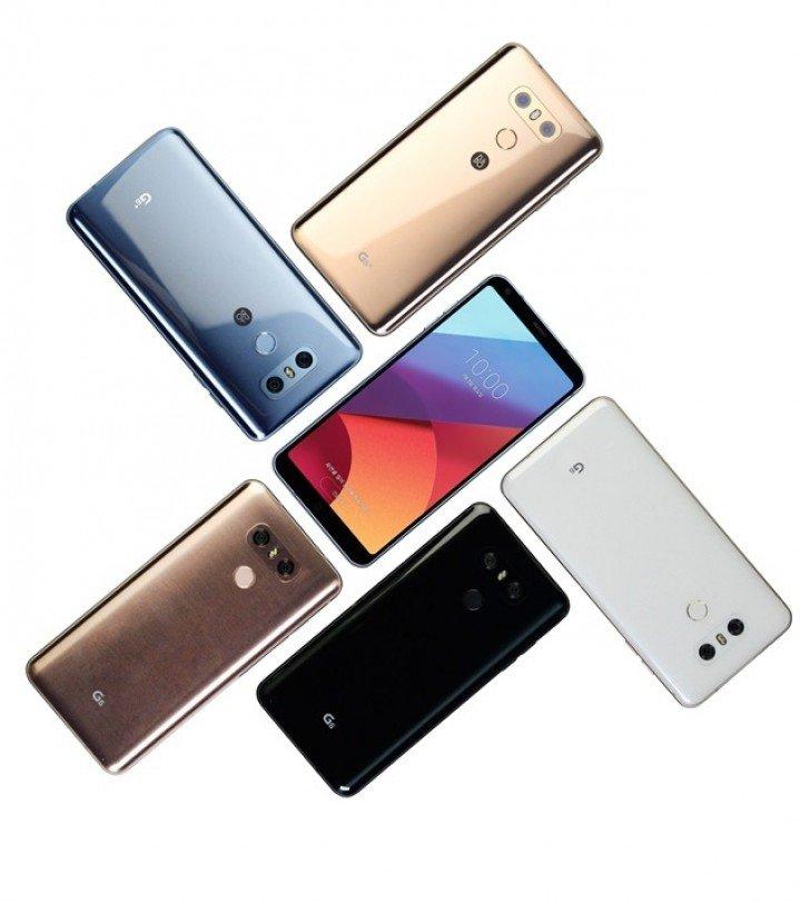 LG G6+ barevné varianty