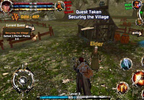 Crimson Warden: Clash of Kingdom Open World 3D RPG - povídejte si s vesničany