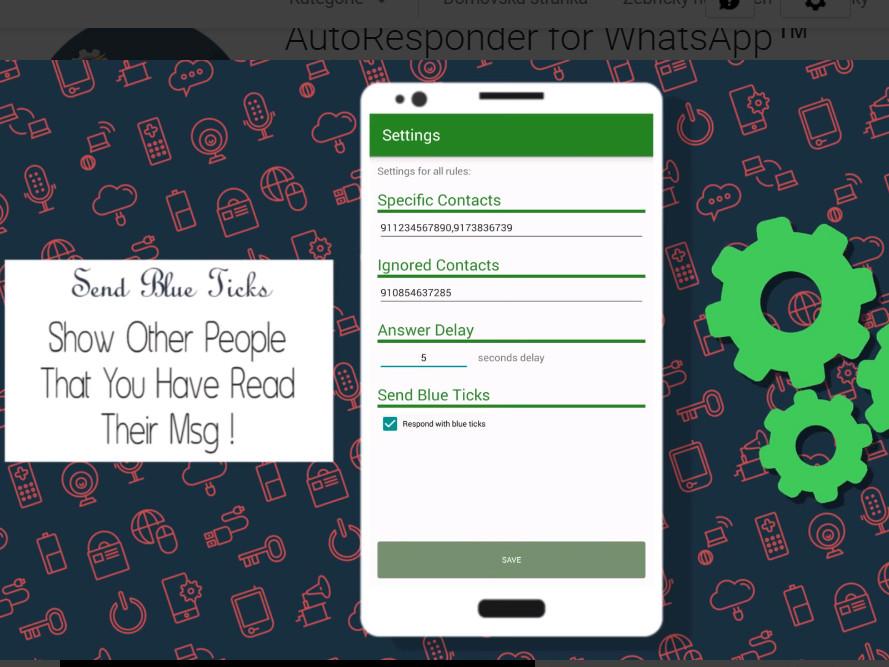 AutoResponder for WhatsApp aplikace zdarma