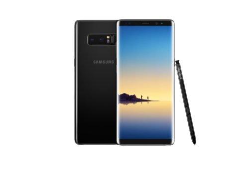 Samsung Galaxy Note 8 černá barva