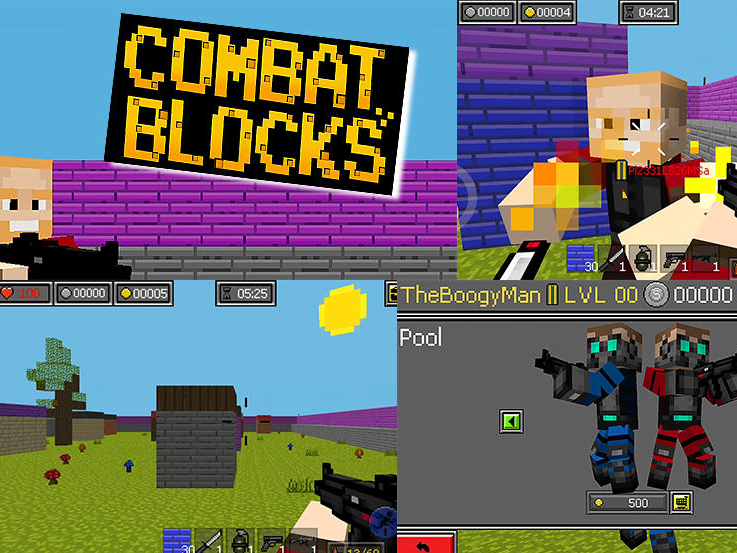 Hra Combat blocks survival online