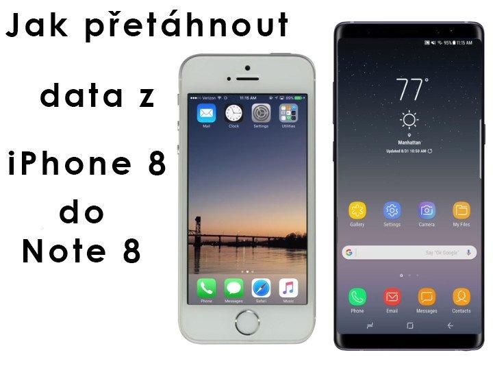 Jak přetáhnout data z iPhone do Galaxy