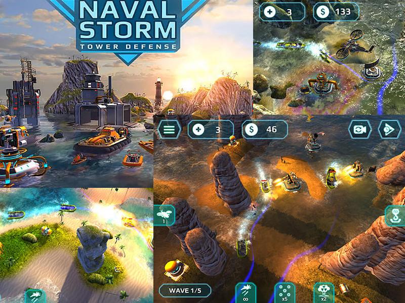 Naval Storm Tower Defense hra zdarma ke stažení na mobil