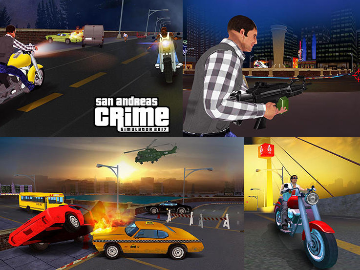 Hra San Andreas crime simulator game 2017   novinky androidhry akcni hry