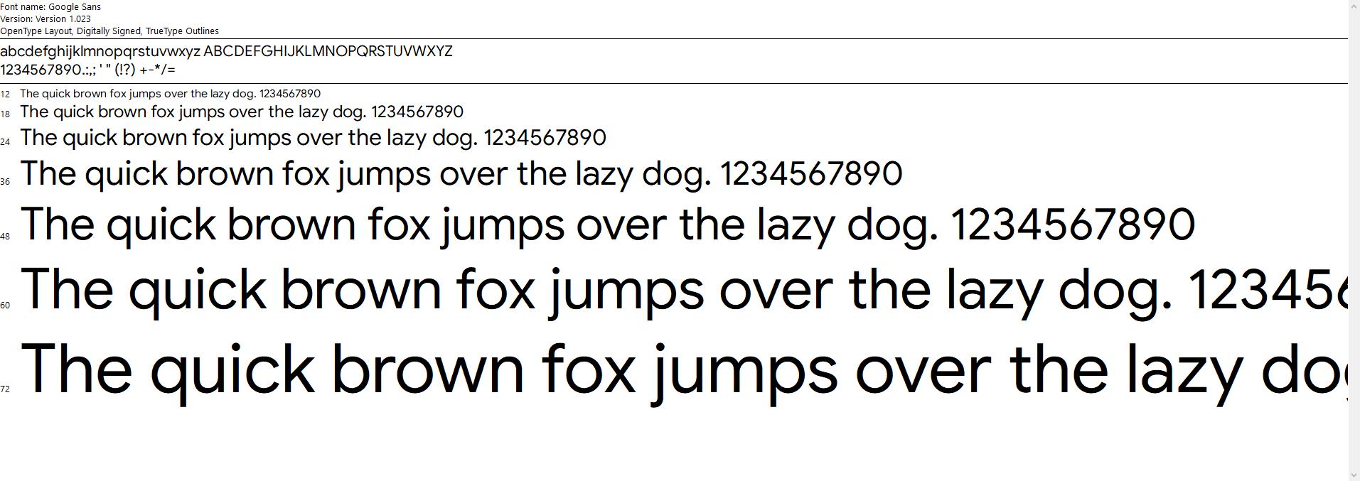 New Google Sans font