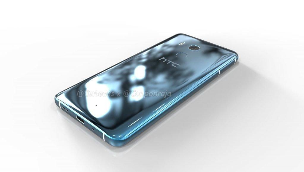 HTC U11 Plus - zadní strana, snímač otisků prstů pod kamerou