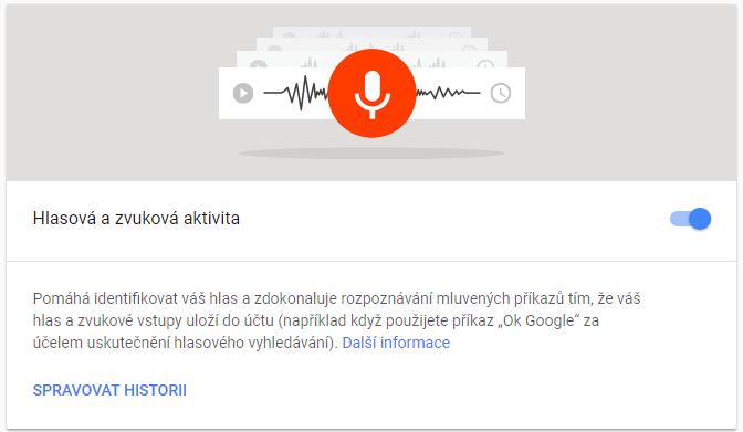 Vypnutí hlasových aktivit, ukládání na server