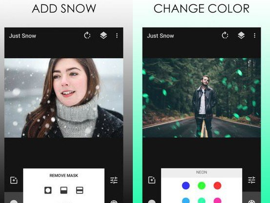 Snow Photo aplikace na mobil