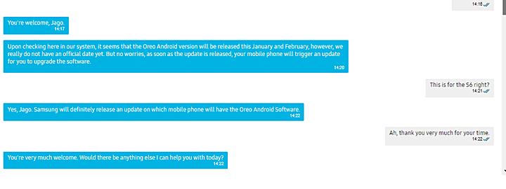 Galaxy S6 a Android Oreo