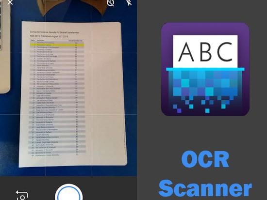 OCR scanner