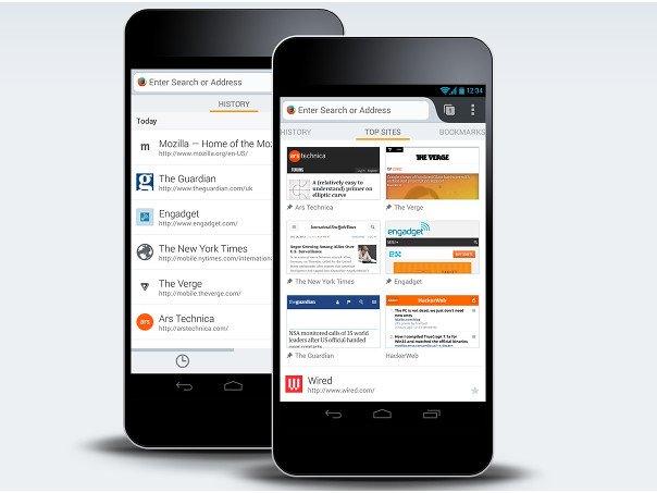 Firefox aplikace ve verzi 59