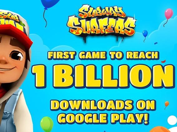 Subway Surfers je první hrou, která dosáhla 1 miliardy stažení   novinky