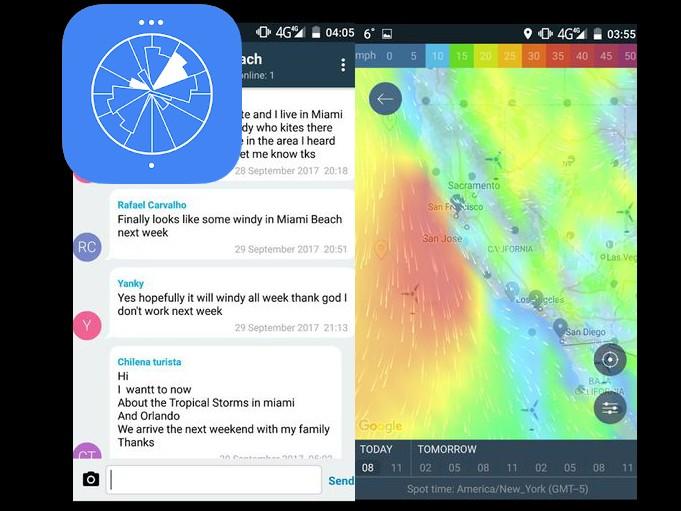 Aplikace Windy   pocasi android androidaplikace
