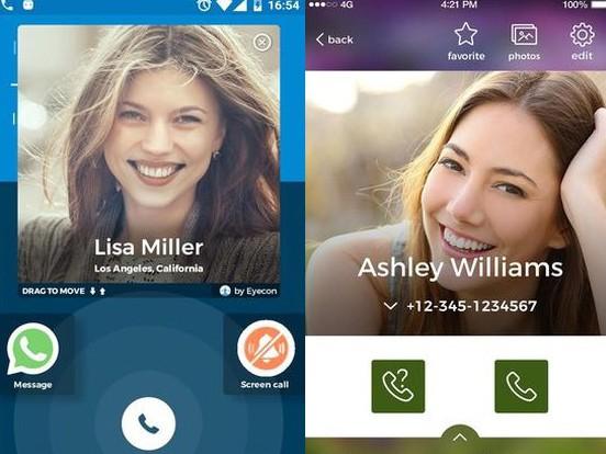 Aplikace Caller ID, Calls, Dialer & Contacts Book: Eyecon