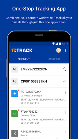 Aplikace 17Track   sledujte své zásilky podrobně