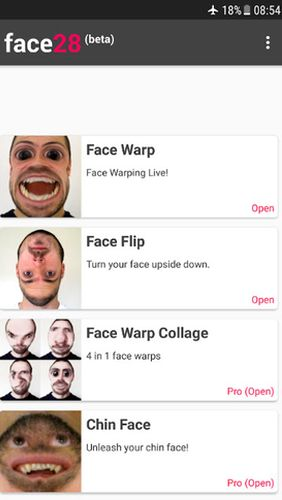Aplikace Face Changer Video   nastroje a pomucky android androidaplikace